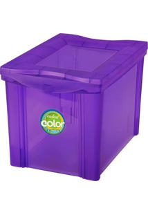 Caixa Organizadora Radical- Roxa- 30,7X30,5X42,5Cm