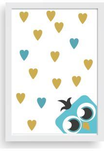 Quadro Love Decor Decorativo Infantil Coruja Love