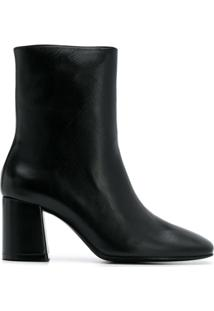 Nicole Saldaña Ankle Boot Com Salto Bloco - Preto