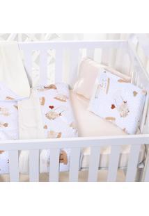 Edredom Bebê 100% Algodão Fio Penteado - Ovelhinha Duna