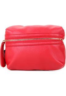 Pochete Shoestock Minimal Feminina - Feminino-Vermelho