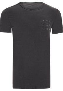 T-Shirt Masculina Double Pocket Tridente Arp - Cinza