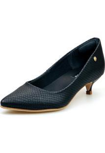Scarpin Baixo Love Shoes Social Confort Básico Preto - Tricae