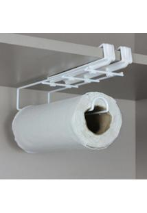 Porta Papel Toalha, Suporte Para Papel Toalha Flexivel - Branco