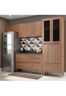 Cozinha Completa Multimã³Veis Com 5 Peã§As Calã¡Bria 5453 Nogueira - Incolor/Marrom - Dafiti