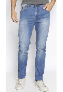 Jeans Alexandre Com Bolsos- Azul Claro- Forumforum