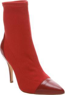 Bota Texturizada- Vermelha- Salto: 9,5Cmschutz