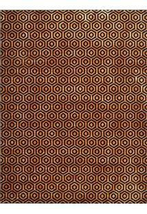 Tapete Marbella Grauves Retangular (200X250Cm) Caramelo E Preto