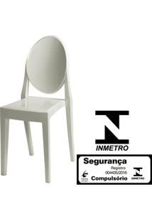 Cadeira Louis Ghost Sem Braco Cor Branca Off White - 11956