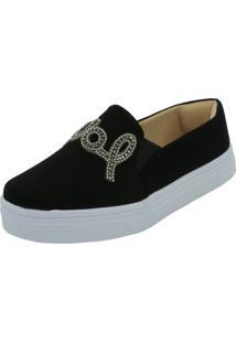 Tenis Hope Shoes Slipper Pedraria Love Preto