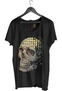 Camiseta Corte À Fio Joss Seres Masculina - Masculino-Preto