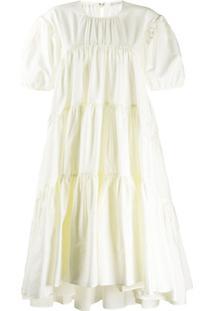 Cecilie Bahnsen Vestido Evasê Esme - Amarelo