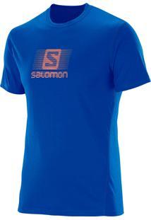 Camiseta Salomon Ss Ii Masculino Gg Azul