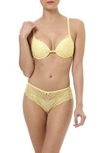 Conjunto De Lingerie Feminino Amarelo - Feminino