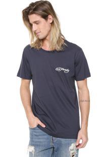 Camiseta Ed Hardy Tiger Snake Wrapped Azul-Marinho