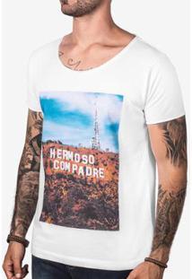 Camiseta Hermoso Compadre Hermosowood Masculina - Masculino-Branco