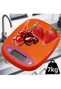 Balanca De Precisao Digital Para Cozinha 7 Kgs Laranja Cbrn01156