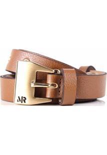Cinto Cintura/Quadril Skinny Aplicacao Mini Ilhos Marrom