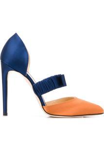 Chloe Gosselin Scarpin 'Lily' Color Block - Azul