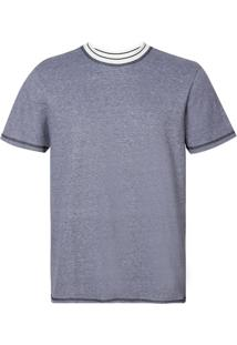 Camiseta John Johna Rg Bristol Blue Malha Azul Masculina (Azul Medio, P)