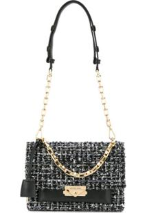 Michael Michael Kors Cece Tweed Shoulder Bag - Preto