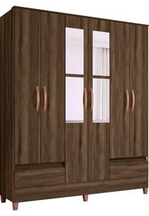 Guarda-Roupa Casal Com 6 Portas Ametista-Móveis Albatroz - Cedro