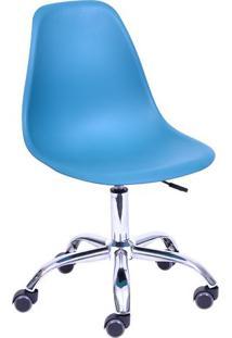 Cadeira Eames Dkr RodãZio- Azul Claro- 93X47X41Cm