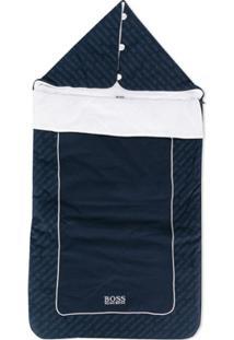 Boss Kids Cobertor Com Estampa De Logo - Azul