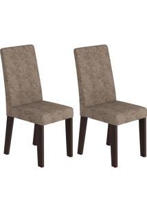 Cadeiras Kit 2 Cadeiras Nobre 14107 Ameixa/Malta - Viero Móveis