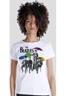 Camiseta Bandup! The Beatles Umbrella Colors - Feminino