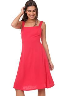 Vestido Mercatto Curto Liso Vermelho