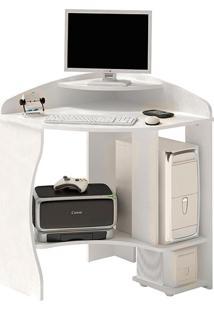Mesa Para Computador Java De Canto Branco - Artely