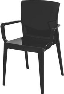 Cadeira Victoria Encosto C/Braco Cor Preto - 21837 Sun House