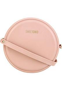 Bolsa Sweetchic Mini Bag Quebek Feminina - Feminino-Nude