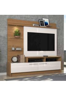 Rack Para Tv Ipanema Até 60 Polegadas Natura Real/Off White - Colibri Móveis