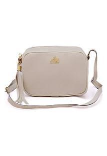 Bolsa Pequena Feminina Alça Transversal Off-White
