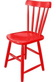 Cadeira Skand Assento Escavado Cor Vermelha - 33368 - Sun House