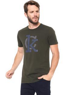 Camiseta Calvin Klein Lettering Verde