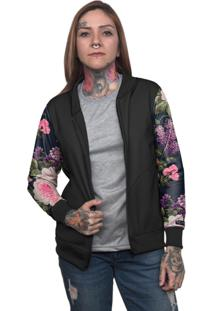 Jaqueta Bomber Chess Clothing Floral Colorido - Tricae
