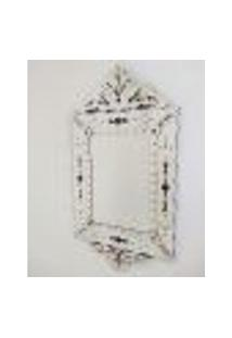 Espelho Veneziano Decorativo, Sala, Luiz Xv Plus Preto 63X119