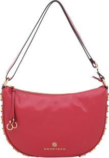 Bolsa Couro Trasnversal Anéis Red - 73065.18 - Feminino-Vermelho