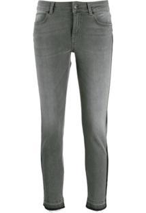 Escada Sport Calça Jeans Skinny Listrada - Cinza