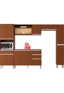 Cozinha Compacta C/ Balcão E Painel Vanessa-Poquema - Capuccino