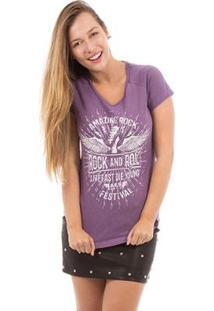 Camiseta Aes 1975 Amazing Rock Feminina - Feminino