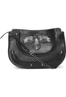 Bolsa Feminina Rebites Leather - Preto