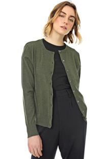 Cardigan Banana Republic Tricot Stretch-Cotton Verde