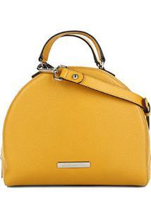Bolsa Loucos & Santos Handbag Redonda Alça Transversal Feminina - Feminino-Amarelo