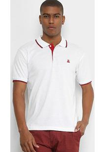 Camisa Polo Broken Rules Piquet Friso Masculina - Masculino-Branco
