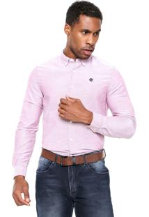 Camisa Timberland Slim Fit Rosa