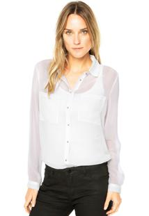 Camisa Dafiti Unique New Sabia Off White